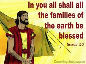 Genesis 12:3 I will Bless Those Who Bless You yellow