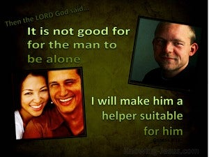 Genesis 2:18 I Will Make Him A Suitable Helper green