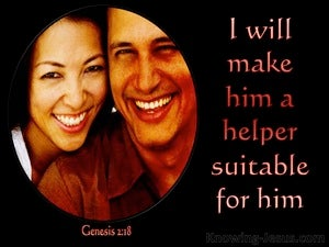 Genesis 2:18 I Will Make Him A Suitable Helper red