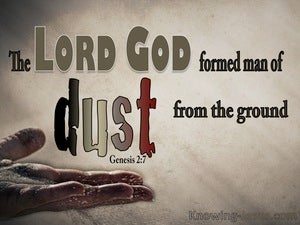 Genesis 2:7 The Lord God Formed Man From The Dust beige