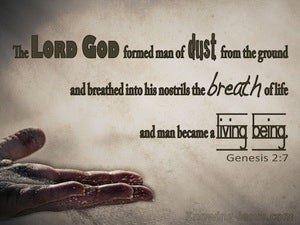 Genesis 2:7 The Lord God Formed Man From The Dust (brown)