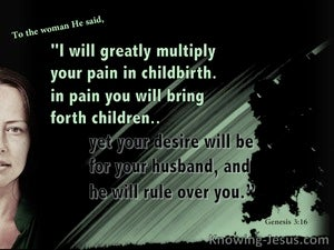 Genesis 3:16 Multiply Your Pain In Childbirth black