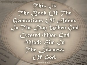 Genesis 5:1 The Generations Of Adam gray