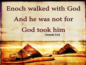 Genesis 5:24 Enoch Walked With God And Was brown