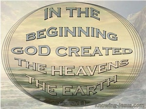 Genesis 1:1 In The Beginning God Created The Heavens And The Earth (gray)