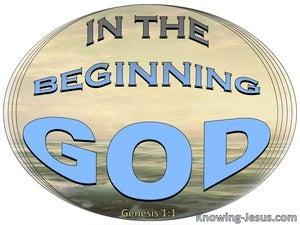 Genesis 1:1 In The Beginning God (blue)