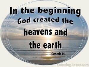 Genesis 1:1 In The Beginning God (cream)