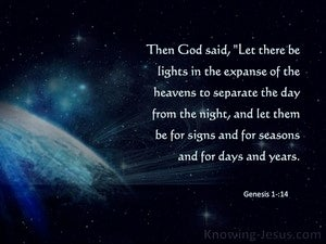 Genesis 1:14 Let There Be Lights  In The Heavens (blue)