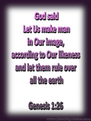 Genesis 1:26 Let Us Make Man (purple)
