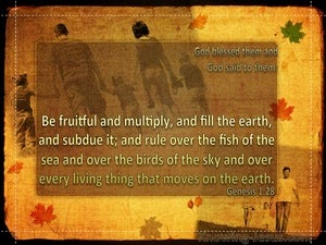 Genesis 1:28 Be Fruitful And Multiply (gold)