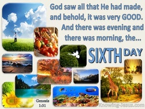 Genesis 1:31 God Saw All That He Made And It Was Very Good (blue)