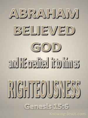 Genesis 15:6 Abraham Believed God (beige)