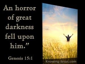 Genesis 15:12 An Horror Of Great Darkness Fell Upon Him (yellow) (utmost)01:19
