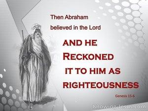 Genesis 15:6 Abraham Believed God
