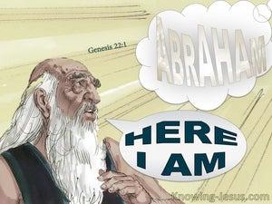 Genesis 22:1 God Tested Abraham (gray)