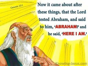 Genesis 22:1 God Tested Abraham (yellow)