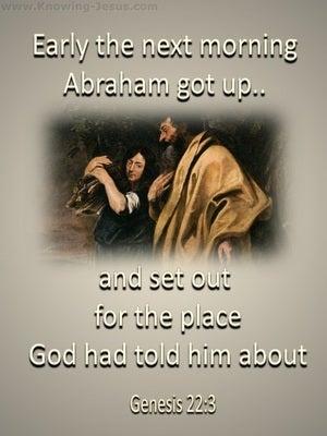 Genesis 22:3 Abraham Obeyed God (beige)