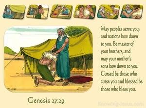 Genesis 27:29 May Peoples Serve You (beige)