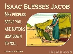 Genesis 27:29 May Peoples Serve You (brown)