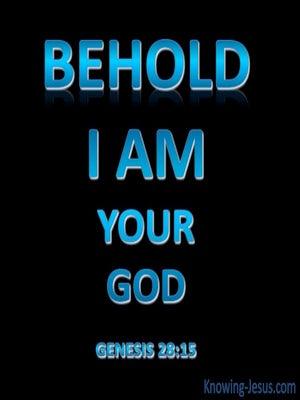 Genesis 28:15 I Am Your God (blue)