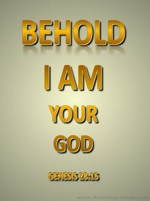 Genesis 28:15 I Am Your God (gold)
