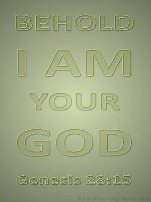 Genesis 28:15 I Am Your God (sage)