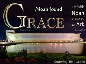 Genesis 6:8 Noah Found Grace In The Eyes Of The Lord (black)
