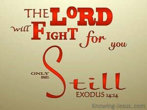 Exodus 14:14 The Lord Will Fight For You red