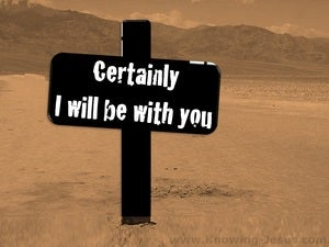 Exodus 3:12 I Will Be With You (brown)