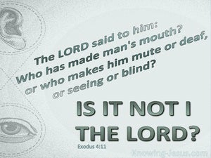 Exodus 4:11 Who Made Man's Mouth Is It Not The Lord (sage)