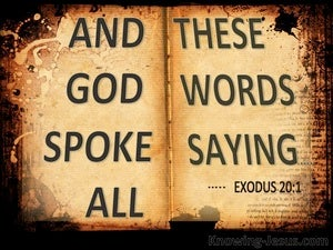 Exodus 20:1 And All That God Spoke We Will Do (beige)