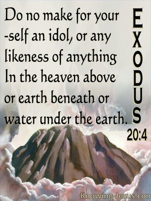 Exodus 20:4 You Shall Not Make Idols (pink)