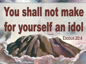 Exodus 20:4 You Shall Not Make Idols (red)