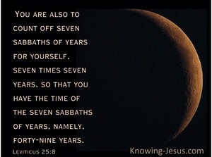 Leviticus 25:8 You Are Also To Count Off Seven Sabbaths Of Years (black)
