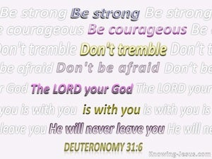 Deuteronomy 31:6 Be Strong And Very Courageous (pink)