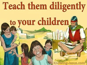 Deuteronomy 6:7 Teach Them Dilligently To Your Sons (red)