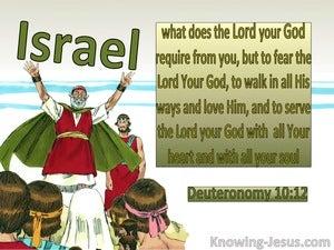Deuteronomy 10:12 Fear God, Walk In His Ways Love and Serve Him (green)