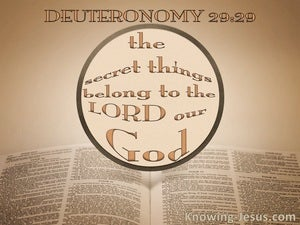 Deuteronomy 29:29 The Secret Things Of God (beige)