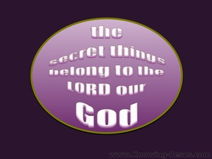 Deuteronomy 29:29 The Secret Things Of God (purple)