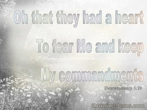 Deuteronomy 5:29 That They Had A Heart To Keep My Commandments (gray)