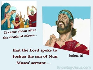 Joshua 1:1 The Lord Spoke To Joshua blue