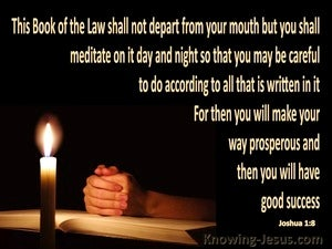 Joshua 1:8 Meditate On God's Word Day And Night black