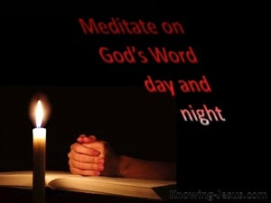 Joshua 1:8 Meditate On God's Word Day And Night red