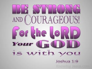 Joshua 1:9 Be Strong And Very Courageous pink