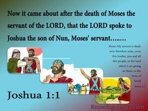Joshua 1:1 The Lord Spoke To Joshua (aqua)
