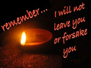 Joshua 1:5 I Will Not Leave You Nor Forsake You (red)