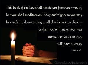 Joshua 1:8 Meditate on Gods Word (beige)