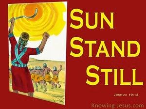Joshua 10:12 Joshua Said Sun Stand Still (red)