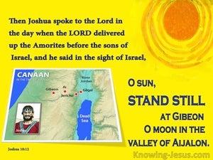 Joshua 10:12 Joshua Said Sun Stand Still (yellow)