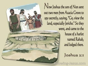 Joshua 2:1 They Came To The Houese Of A Harlet Named Rahab (cream)
